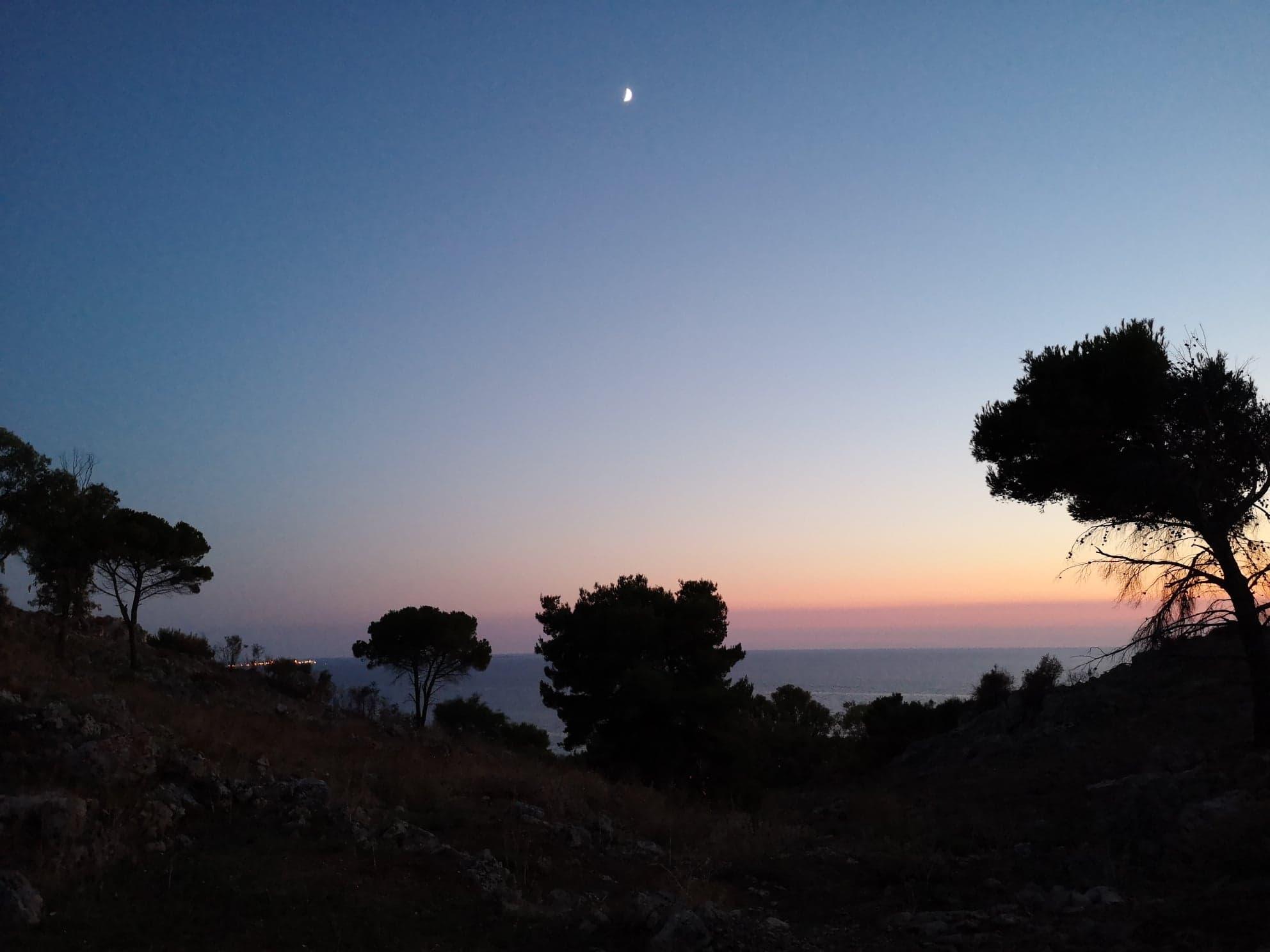 Coucher du soleil dans la Pampa